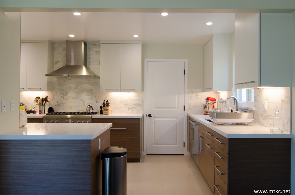 Two Tone Modern Kitchen Remodel Before After 09