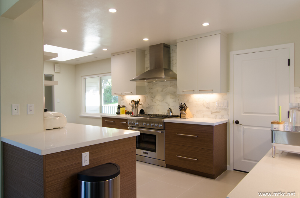 Two Tone Modern Kitchen Remodel Before After 10